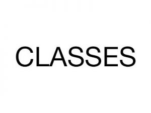 Image of Classes text