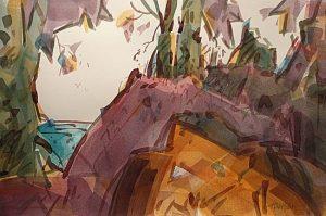 River Royalty, watercolor by Woody Hansen