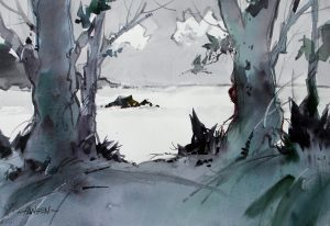 Image of Woody Hansen watercolor