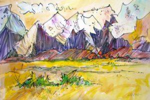 Eastern Sierra, Original Woody Hansen Watercolor painting