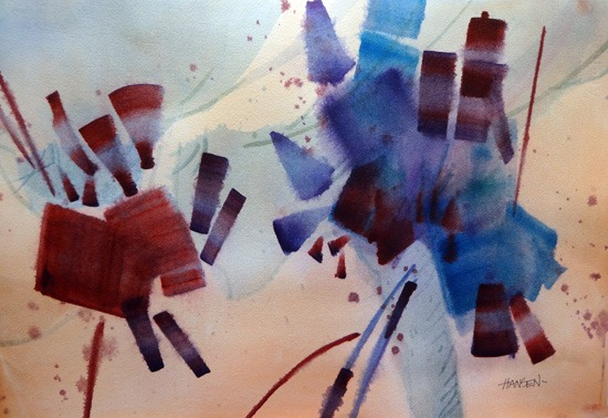 Lotta Fun,original watercolor painting by Woody Hansen