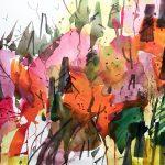 Woody Hansen watercolor, Mountain Symphony
