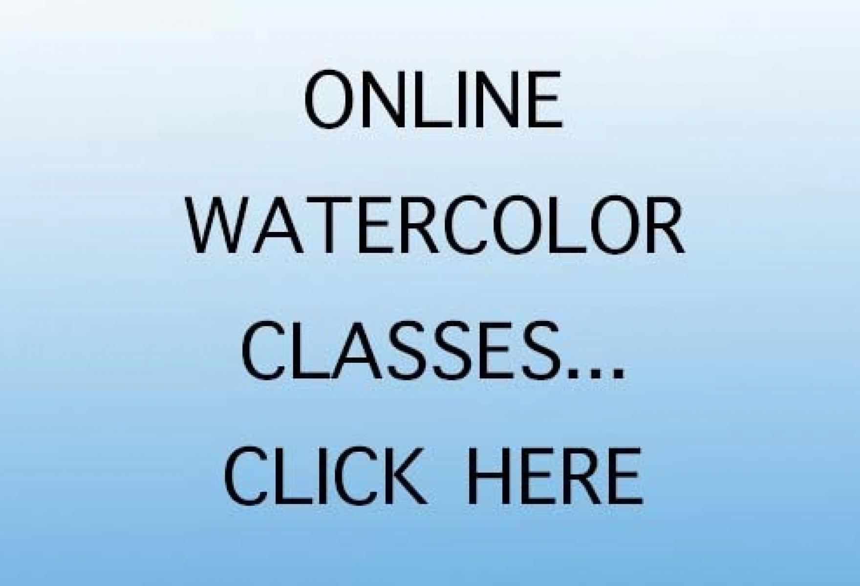 Woody Hansen Online Watercolor Classes Promo